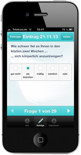 App für Patient-Reported-Outcome | MS-Studien-App
