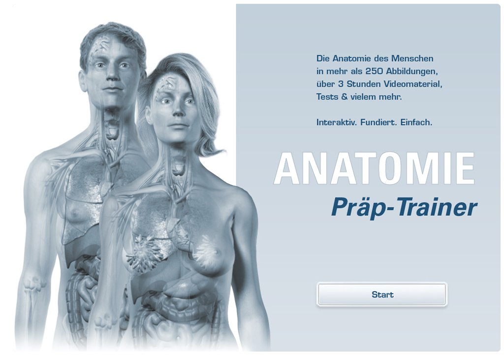E-Learning Applikation | Anatomie-Kurs für Studenten