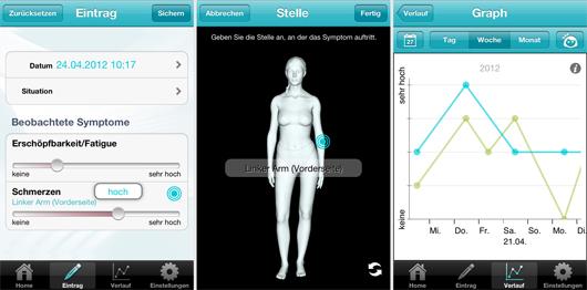 Smartphone App | MS-Tagebuch, Funktionen