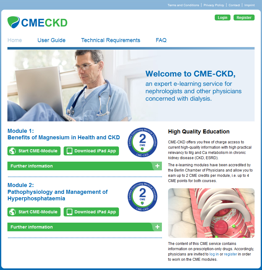 CME & E-Learning | CME-CKD_Webseite